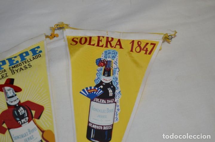 Banderines de colección: VINTAGE - Colección de 3 ANTIGUOS BANDERÍNES - Fundador / Tio Pepe y Solera 1847 -- Años 50 / 60 - Foto 5 - 210045497