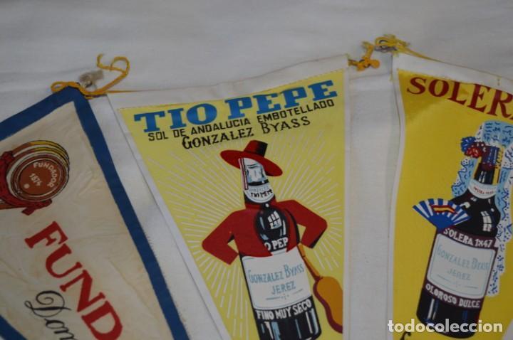 Banderines de colección: VINTAGE - Colección de 3 ANTIGUOS BANDERÍNES - Fundador / Tio Pepe y Solera 1847 -- Años 50 / 60 - Foto 6 - 210045497