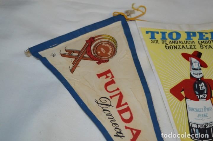 Banderines de colección: VINTAGE - Colección de 3 ANTIGUOS BANDERÍNES - Fundador / Tio Pepe y Solera 1847 -- Años 50 / 60 - Foto 7 - 210045497