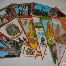 Banderines de colección: VINTAGE - COLECCIÓN DE 12 ANTIGUOS BANDERÍNES - DE PROVINCIAS DE ESPAÑA -- AÑOS 50 / 60. Lote 210047662