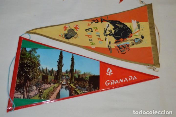 Banderines de colección: VINTAGE - Colección de 12 ANTIGUOS BANDERÍNES - De provincias de ESPAÑA -- Años 50 / 60 - Foto 4 - 210047662