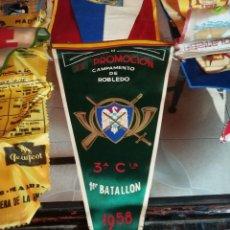 Banderines de colección: BANDERÍN XV PROMOCIÓN 3ª COMPAÑIA, 1º BATALLÓN, CAMPAMENTO DE ROBLEDO 1958. Lote 210102186