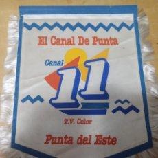 Galhardetes de coleção: BANDERÍN CANAL DE TELEVISIÓN 11 PUNTA DEL ESTE (URUGUAY). Lote 210254880