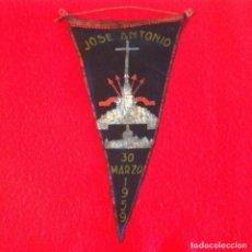 Banderines de colección: BANDERÍN DE JOSÉ ANTONIO, TRASLADO DE EL ESCORIAL AL VALLE DE LOS CAÍDOS, 1959, FALANGE, RARÍSIMO. Lote 210374328