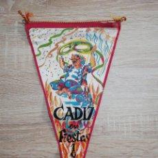Banderines de colección: BANDERIN CADIZ EN FIESTAS 1963. Lote 212248372