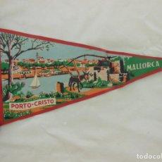 Banderines de colección: ANTIGUO BANDERÍN : PORTO - CRISTO (PUERTO POLLENSA) MALLORCA. Lote 214155495