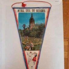 Banderines de colección: BANDERÍN PLASTIFICADO DE NUESTRA SEÑORA DE BEGOÑA, BILBAO. Lote 215696688