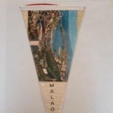 Banderines de colección: BANDERÍN PLASTIFICADO DE MÁLAGA. Lote 215697037