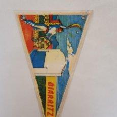Banderines de colección: BANDERÍN PLASTIFICADO BIARRITZ - PAYS BASQUE. Lote 215697572