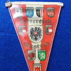 Banderines de colección: ANTIGUO BANDERIN CON PUBLICIDAD DE OSTERREICH. AUSTRIA. AL DORSO IMAGEN Y ESCUDO DE WIEN. Lote 216021722