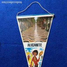 Banderines de colección: ANTIGUO BANDERIN DE RECUERDO DE ALICANTE. PUBLICIDAD. Lote 217685388