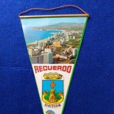Banderines de colección: ANTIGUO BANDERIN RECUERDO BENIDORM, ALICANTE. COSTA BLANCA. Lote 217692365