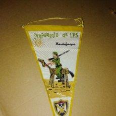 Banderines de colección: BANDERIN CAMPAMENTO I P S MONTEJAQUE RONDA MILITAR MALAGA AÑOS 60. Lote 217822575