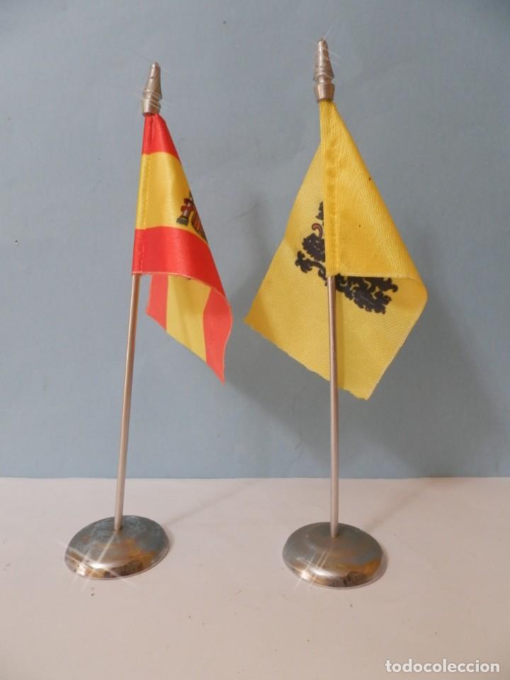BADERINES DE MESA BANDERA ESPAÑOLA BANDERIN (Coleccionismo - Banderines)