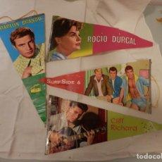 Banderines de colección: 4 BANDERINES AÑOS 60, ARTISTAS, EDICIONES MANDOLINA.. Lote 219615761