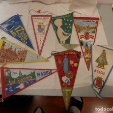Banderines de colección: LOTE DE BANDERINES AÑOS 60 APROX. MURCIA, MADRID, SANTIAGO, ETC, MIRAR. Lote 219615985