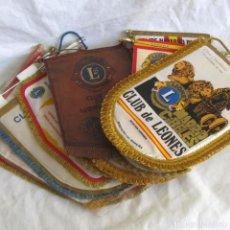 Banderines de colección: 13 BANDERINES LEONISMO ESPAÑOL LIONS. Lote 220667242