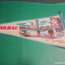 Banderines de colección: BANDERIN ESTAMPADO EN TELA DE LA RIA PUENTE DE LA VICTORIA DE BILBAO (DESDE 1980 DEL ARENAL). Lote 222487311