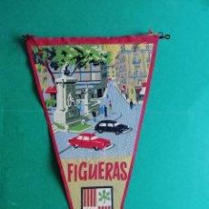 Banderines de colección: BANDERIN ANTIGUO DE TELA ESTAMPADO DE FIGUERAS. Lote 222547053