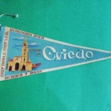 Banderines de colección: BANDERIN DE FIELTRO ESTAMPADO DE CIUDAD DE OVIEDO. Lote 222549643