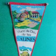 Banderines de colección: BANDERIN DE TELA ESTAMPADA MARE DE DEU DE LES SALINES. Lote 222550393