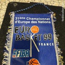 Banderines de colección: BANDERIN EUROBASKET 99 FRANCIA. Lote 222591221