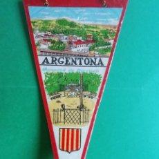 Banderines de colección: BANDERIN PLASTIFICADO DE ARGENTONA-MANANTIAL DE BURRIACH. Lote 222963731