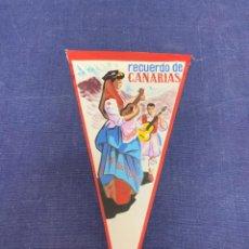 Banderines de colección: BANDERIN RECUERDO DE CANARIAS. Lote 223696193