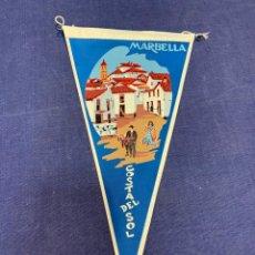 Banderines de colección: BANDERIN MARBELLA COSTA DEL SOL. Lote 223697091