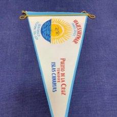 Banderines de colección: BANDERIN VIAJES SOLYMAR TRAVEL OFFICE PUERTO DE LA CRUZ TENERIFE CANARIAS. Lote 223698150