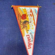 Banderines de colección: BANDERIN RECUERDO DE ESPAÑA PLAZA TOROS TORO TORERO. Lote 223699000