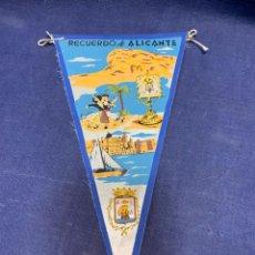 Banderines de colección: BANDERIN RECUERDO ALICANTE. Lote 223700250