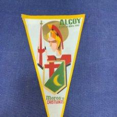 Banderines de colección: BANDERIN ALCOY 1961 MOROS Y CRISTIANOS. Lote 223702352