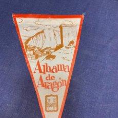 Banderines de colección: BANDERIN ALHAMA DE ARAGON. Lote 223702463