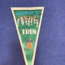 Banderines de colección: BANDERIN RECUERDO DE IRUN. Lote 223702992