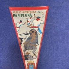 Banderines de colección: BANDERIN RECUERDO DE PAMPLONA. Lote 223708517