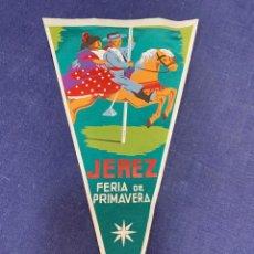 Banderines de colección: BANDERIN JEREZ FERIA PRIMAVERA. Lote 223709958