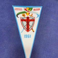 Banderines de colección: BANDERIN COMPARSA NAVARROS ALCOY 1961. Lote 223710115