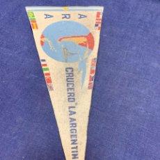Banderines de colección: BANDERIN ARA CRUCERO LA ARGENTINA. Lote 223712303