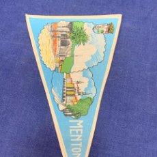 Banderines de colección: BANDERIN MENTON FRANCIA. Lote 223713228