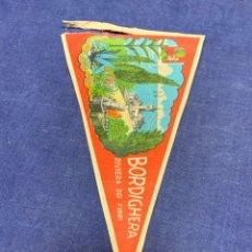 Banderines de colección: BANDERIN ITALIA BORDIGHERA RIVIERA DEI FIORI. Lote 223713343