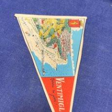 Banderines de colección: BANDERIN ITALIA VENTIMIGLIA RIVIERA DEI FIORI. Lote 223713391