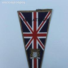 Banderines de colección: ANTIGUO BANDERIN INGLATERRA, AÑOS 60-70. Lote 223978127