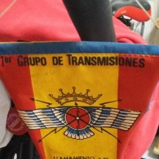 Banderines de colección: BANDERIN PRIMER CRUPO .DE TRANSMISIONES.LLAMAMIENTO 3-75. Lote 224005620