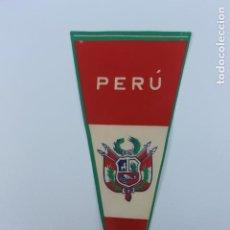 Banderines de colección: ANTIGUO BANDERIN PERU. AÑOS 60-70. Lote 224017383