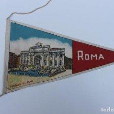 Banderines de colección: ANTIGUO BANDERIN ROMA, FONTANA DI TREVI. AÑOS 60-70. Lote 224017650
