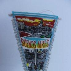Banderines de colección: ANTIGUO BANDERIN BUENOS AIRES, ARGENTINA,TAMAÑO GRANDE, AÑOS 60-70. Lote 224180133