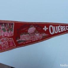 Banderines de colección: ANTIGUO BANDERIN QUEBEC, CANADA TAMAÑO GRANDE, AÑOS 60-70. Lote 224180586