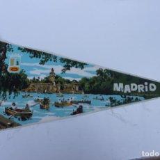 Banderines de colección: ANTIGUO BANDERIN, MADRID ESTANQUE DEL RETIRO, TAMAÑO GRANDE, AÑOS 60-70. Lote 224273911