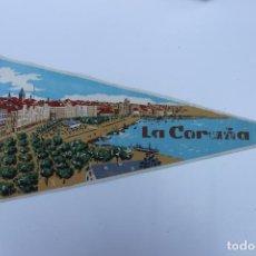 Banderines de colección: ANTIGUO BANDERIN, LA CORUÑA , TAMAÑO GRANDE, AÑOS 60-70. Lote 224273991